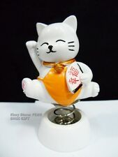 Car Dash Chinese Japanese Lucky Good Luck Waving Bobblehead Paw Up Fortune Cat