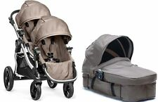Baby Jogger City Select Twin Double troller Quartz w/ Second Seat and Bassinet