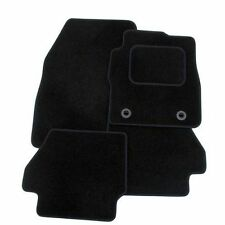 Honda Civic Mk8 2006-2008 3&5 DoorTAILORED CAR FLOOR MATS- BLACK WITH BLACK TRIM