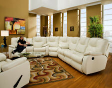American Made Addison Sectional Sofa Group in Bonded Leather or Microfiber