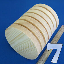"LOT of 7 CIRCLE 6.0"" / 150 mm WOODEN BLOCKS BUNDLE SET PINE WOOD NATURAL DISCS"