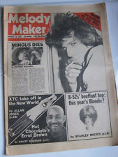 Melody Maker Jan 13 1979 Charles Mingus dies Keith Richards B 52's XTC