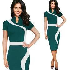 Fashion Women Vintage Business Casual Party Pencil Sheath Work Wear Office Dress