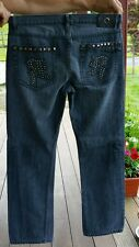 Men's Request stud studded rock star gray jeans 34 × 32