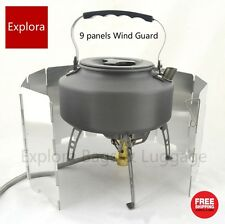9 Panels Portable Wind Guards ,Deflector for Camping Gas Stove / Camp Cooker