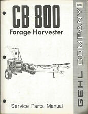 GEHL 800 FORAGE HARVESTER SERVICE PARTS MANUAL