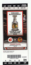 2011 CHICAGO BLACKHAWKS VS FLAMES FULL TICKET STUB 3/2/11 JONATHAN TOEWS 2 GOALS