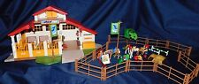 Rare Playmobil Horse Farm Pony Ranch Set 4190 Retired BONUS!! Playmobil 5518 NIB