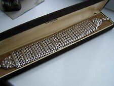"EXTREMELY RARE VICTORIAN HEAVY STERLING SILVER BOOK CHAIN BRACELET 8"" 55G RARE"