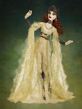 Tonner Wilde Evangeline Ghastly ~ Gothic Lace Parnilla Gold Dress Gown ONLY