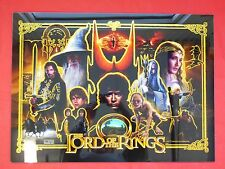 Stern Lord Of The Rings Gold LE Pinball Mirrored Head Glass SUPER RARE!!!!