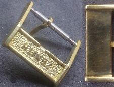 Original Zenith Buckle Fibbia 14mm inner From 1970 Yellow Gold Plated L@@K ! !