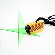 Industrial 532nm 30mW Green Cross Line Laser Module w/ bracket and heatsink&PSU