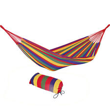 Outdoor Double Hammock Garden Camping Patio Beach Travel Swing Hang Carry Case