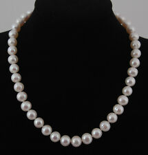 Real Freshwater 11mm White Pearl Necklace/ Silver Clasp