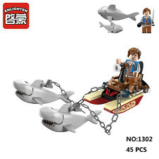 Enlighten Pirates Legendary 1302 Shark Boat Figure Enlighten Building Blocks Toy