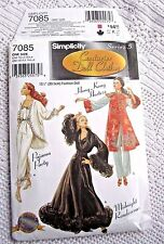 "7085 SEWING PATTERN~UNCUT~BARBIE ""COUTURIER"" DOLL CLOTHES~HONG KONG HOSTESS&PJs+"