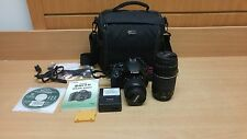 Canon EOS Rebel T3i 18 MP Digital SLR Camera Black 18-55mm & 75-300mm Lens Kit