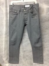 GUSTIN #131 Japan Heather Gray Raw Selvedge Denim Jeans Slim Fit Men's 33