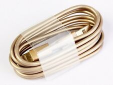 Original Quality Gold USB Cable for iPhone 7 6S 5S 6 iPad Mini Data Charger Lead