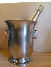 A  POLISHED METAL, WITH HOOP HANDLES, CHAMPAGNE BUCKET, BY 'JEAN COUZON' FRANCE