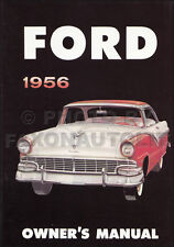 1956 Ford Car Owners Manual Fairlane Mainline Victoria Sunliner Skyliner Wagons