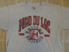 Vtg 90s FOND DU LAC Wisconsin SHIRT L Tourist University College School Team WI