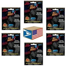 6 LOT MALE ENHANCEMENT LIBIDO SEX PILL All Night FAST ACTING NATURAL SALE NEW!