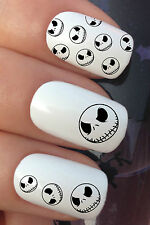 HALLOWEEN NAIL ART SET #671 x12 JACK SKELLINGTON WASSERTRANSFER AUFKLEBER