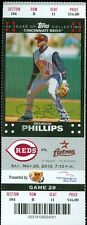 2010 Reds vs Astros Ticket: Ramon Hernandez & Jay Bruce each homered twice
