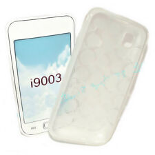 SILIKON TPU HANDY COVER CASE  TRANSPARENT für SAMSUNG i9003 + Displayschutzfolie