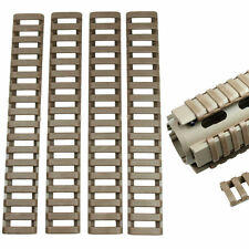 4pcs Heat Resistant Rifle Ladder Rail Cover Weaver Picatinny Handguard -Dark Tan