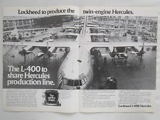 2/1980 PUB LOCKHEED L-400 TWIN ENGINE HERCULES CARGO AIRCRAFT PRODUCTION LINE AD