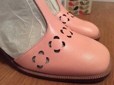 Orla Kiely Clarks, Pink Bibi Shoes In Size 6, EUR 39.5