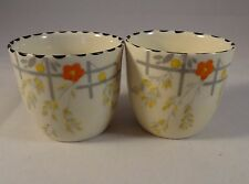 Two Burleigh Ware Art Deco Clematis Design  Egg Cups VGC
