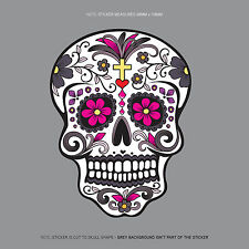 SKU1128 - Day Of The Dead - Calavera - Sugar Skull - Flower - Decal/Sticker