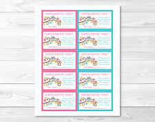 Pink Owl Blossom Printable Baby Shower Diaper Raffle Tickets