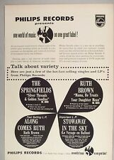 Philips Records PRINT AD - 1962 ~~ Ruth Brown, The Springfields