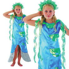 Childrens Kids Blue Little Mermaid Fancy Dress Costume Girls Childs Outfit M