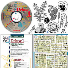 DELUXE#1 ClipArt Images Graphics Drawings CD ~Herbs,Flowers,Fruits,Veggie,Trees+