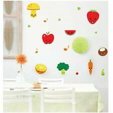 Removable DIY Wall Vinyl Sticker Cute Fruit Art Fridge Kitchen Decal Decor Mural
