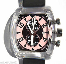 ELBA TEAM ET370 LOCMAN STOP WATCH- BLACK/PINK,  NWT, BOXED, $350