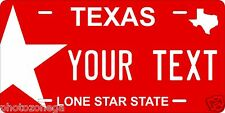 Texas Color Novelty Custom Personalized Tag Vehicle Car Auto License Plate