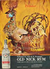 Publicité  Advertising 1964  RHUM BLANC old nick rum BARDINET NEGRITA BORDEAUX