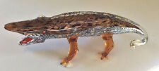 "Exquisite Murano Art Glass Alligator Crocodile Cayman Art Sculpture 13"" Long"