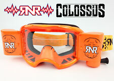 RIP N ROLL RNR COLOSSUS WVS 48mm MOTOCROSS MX ROLL-OFF GOGGLE enduro NEON ORANGE