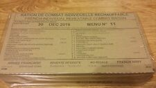 MRE Emergency French Army Food Combat Military RCIR food ration 3 MEALS/24H
