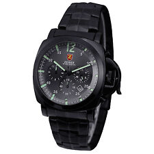 Zeiger Mens Fashion Military Sport Wrist Watch 60 Second 60 Minute Chronograph