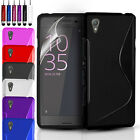 ULTRA THIN SILICONE GEL CASE COVER & SCREEN PROTECTOR FOR SONY XPERIA X