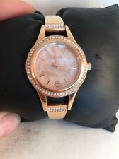 Relic By Fossil Half Bangle Rose Gold IP Analog Watch New With Tags ZR34163-H54